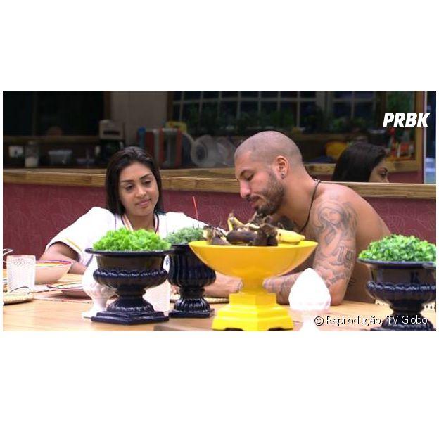"""Amanda e Fernando conversam no reality """"BBB15"""" da Globo"""