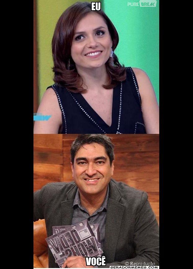 """Monica Iozzi arrasou no """"Video Show"""" e não perderam tempo de brincar com o fracasso de Zeca Camargo no mesmo posto em 2014!"""