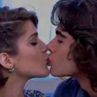 """Isabella Santoni e Rafael Vitti, de """"Malhação"""", beijam muito no """"Encontro com Fátima Bernardes"""""""