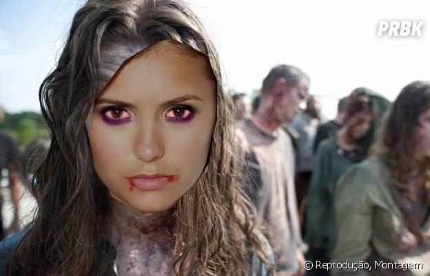 "Ou então a Nina Dobrev poderia aterrorizar os sobreviventes de ""The Walking Dead""!"