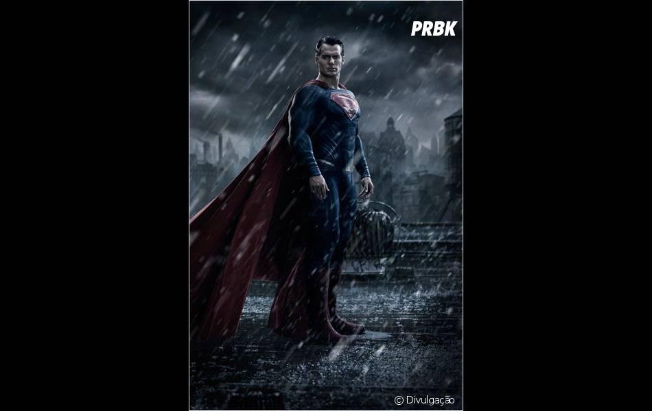 "Henry Cavill interpreta o super-herói Superman,  em ""Batman V Superman"""