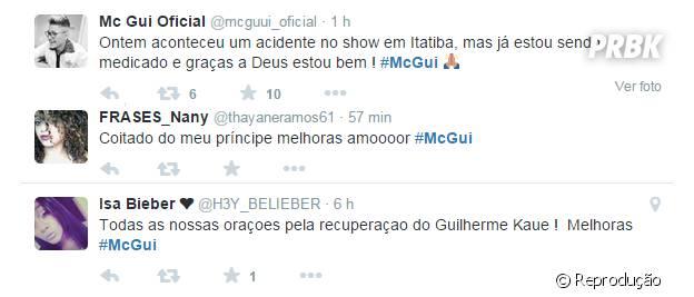 MC Gui recebe carinho dos fãs nas redes sociais