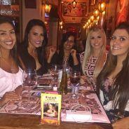 """Amanda, do """"BBB 15"""", curte jantar com Tamires e outras ex-sisters em São Paulo"""