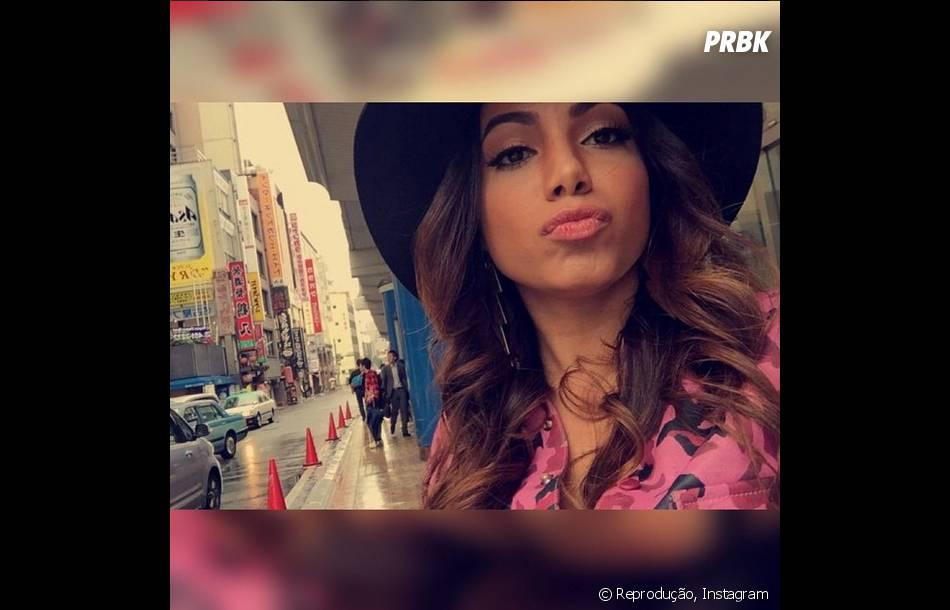 Anitta aproveitou o tempo que tinha para conhecer o Japão