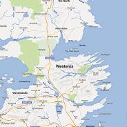 """Fã da série """"Game of Thrones"""" recria mapa de Westeros no estilo Google Mapas"""