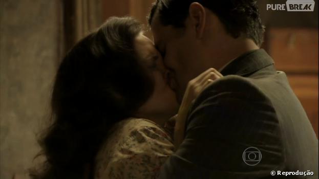 """O beijo forçado deManfred (Carmo Dalla Vecchia) emAmélia (Bianca Bin) desencadeará uma grande briga em """"Joia Rara"""""""