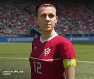Christine Sinclair é uma das jogadoras que estará presente no game!