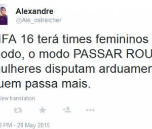 """Times femininos em """"Fifa 16"""" geram polêmica no Twitter"""