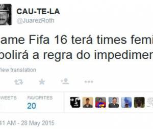"""Pessoas de todo o mundo tuitaram mensagens de ódio sobre times femininos no """"Fifa 16"""""""