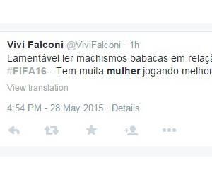 """Porém alguns gamers defenderam a causa das mulheres, que ganham participação no """"Fifa 16"""""""