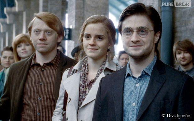 """Harry, Hermione e Rony, de """"Harry Potter"""", são um dos trios mais queridinhos de todos os tempos!"""
