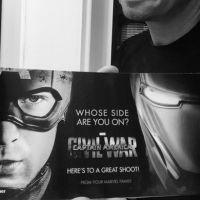 """De """"Capitão América 3"""": Jeremy Renner, de """"Os Vingadores 2"""", divulga primeira arte do filme"""