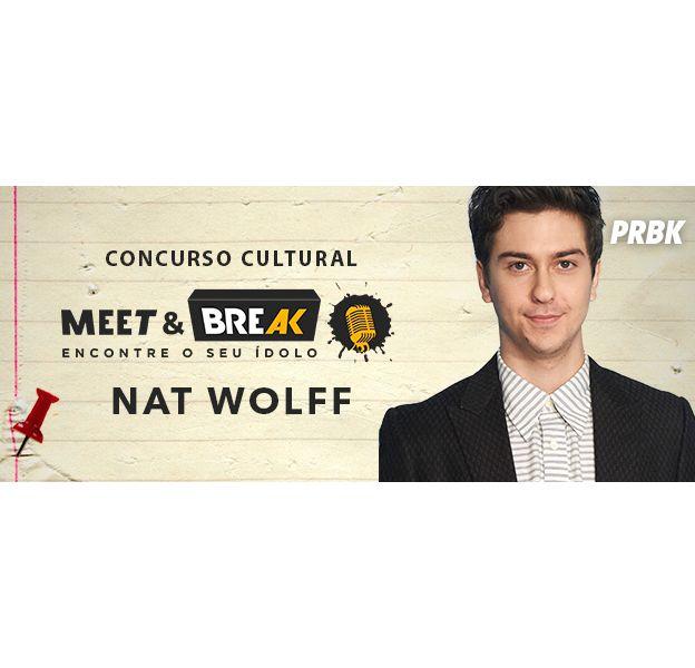 """Nat Wolff, de """"Cidades de Papel"""", no Meet & Break"""
