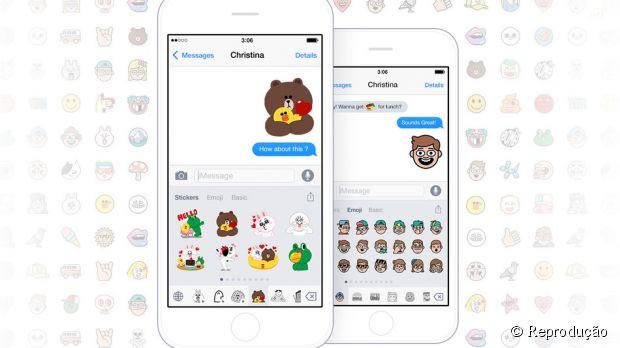 Emoji Keyboard by LINE oferece mais de 3 mil opções de figurinhas