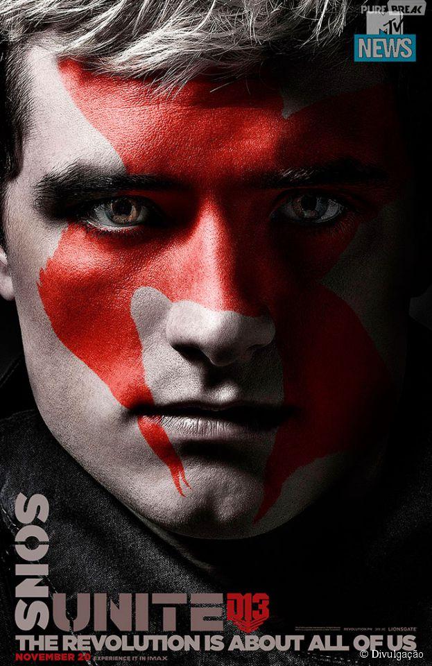 """Josh Hutcherson interpreta o Peeta, em """"Jogos Vorazes: A Esperança - Parte 2"""""""