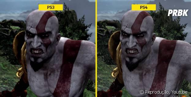 """Kratos lado a lado: versão para PS3 e PS4 de """"God Of War 3"""""""