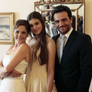 """Novela """"Verdades Secretas"""": Alex (Rodrigo Lombardi) e Carolina se casam contra a vontade de Angel"""