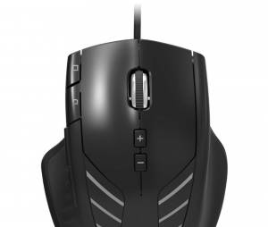 "Visto de frente, o mouse do ""Tactical Assault Commander 4"""