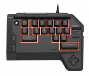 O teclado oficialmente licenciado pela Sony possui alguns controles típicos dos consoles, como L3