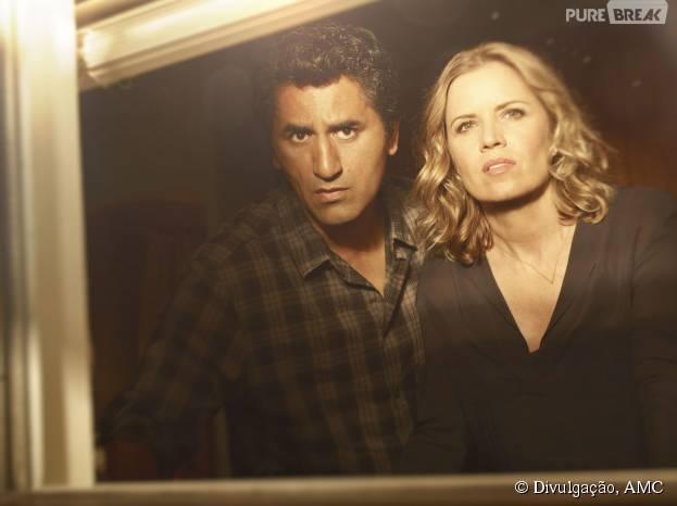 """Em """"Fear The Walking Dead"""", Travis (Cliff Curtis) e Madison (Kim Dickens) ficaram frente a frente com uma ameaça desconhecida"""