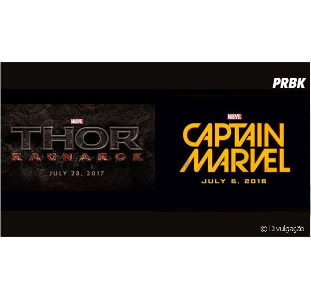 """""""Thor 3: Ragnarok"""" e """"Capitã Marvel"""""""