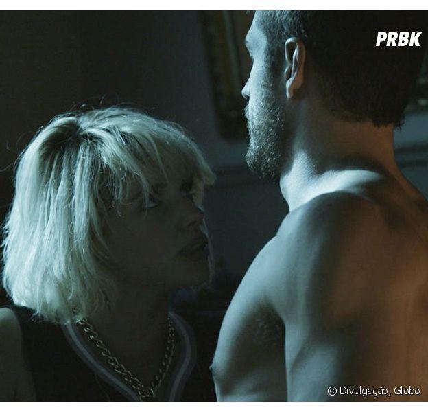 """Em """"A Regra do Jogo"""": Belisa (Bruna Linzmeyer) e Dante (Marco Pigossi) terão noite quente!"""