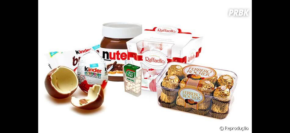 Sim, todos essas maravilhas são da mesma fabricante de Nutella!