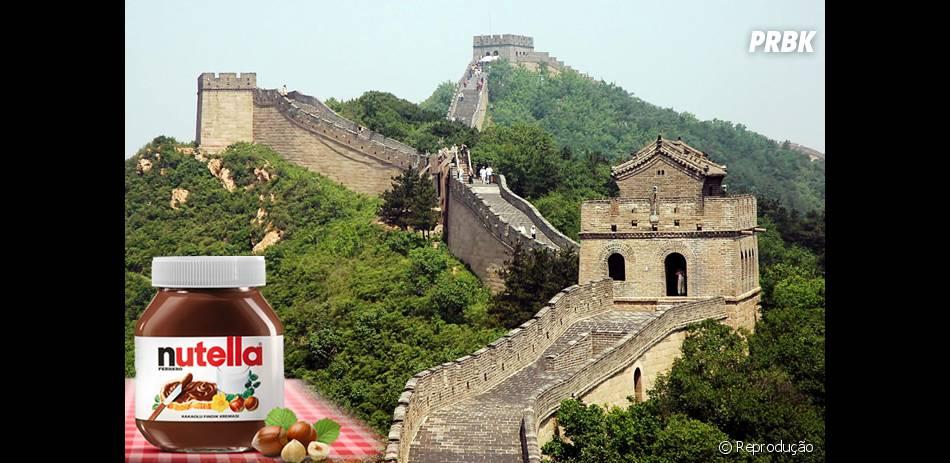 Com a quantidade de Nutella vendida por ano em todo o mundo, é possível cobrir a Muralha da China oito vezes!