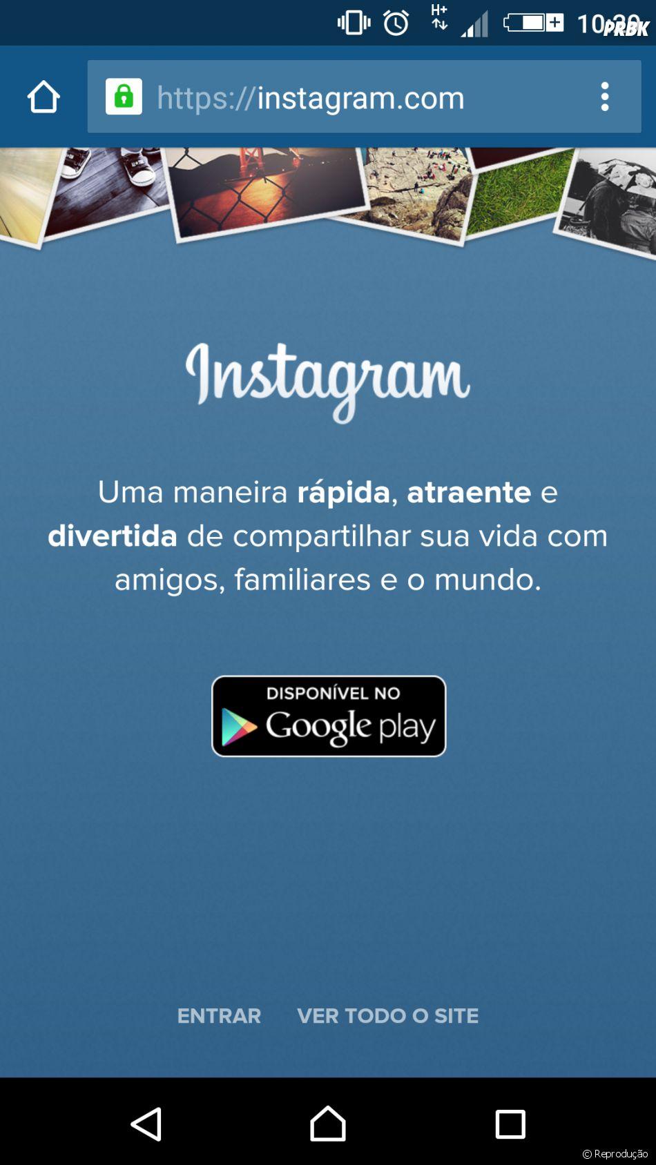 Uma dica para não ver anúncios no Instagram: basta acessar o feed pelo navegador do celular