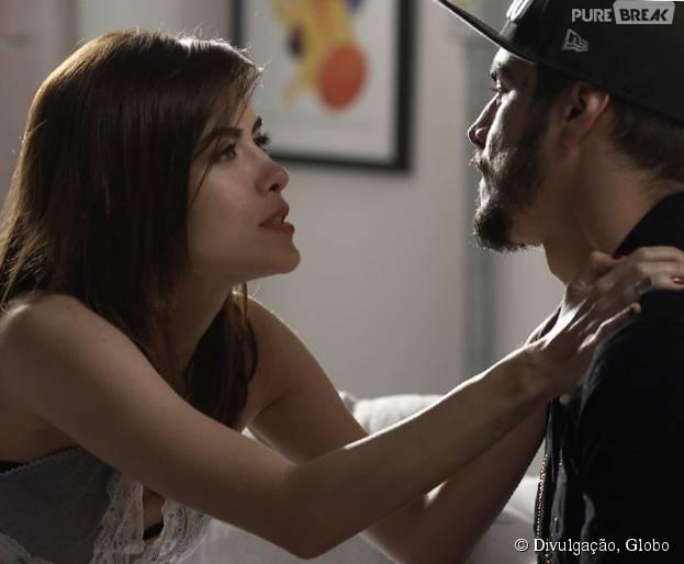 """Margot (Maria Casadevall) desconta raiva em Grego (Caio Castro) em """"I Love Paraisópolis"""""""
