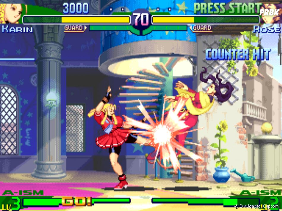 """Visual antigo de Karin em """"Street Fighter Alpha 3"""""""