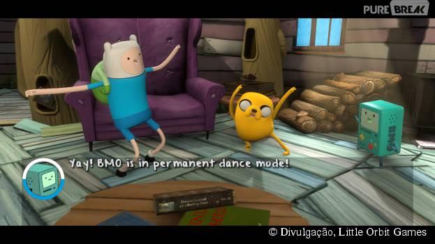 "Finn e Jake esperam a sua companhia no jogo ""Adventure Time: Finn and Jake Investigations""!"