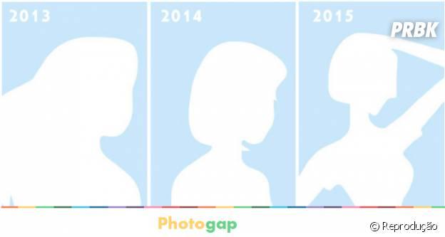 Aplicativo Photogap, permite que pessoas vejam sua transformação ao longo dos anos