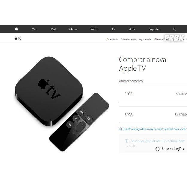 A nova Apple TV está disponível no Brasil com um preço bem salgadinho!
