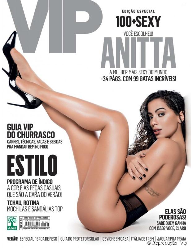 Anitta foi eleita a Mulher Mais Sexy do Mundo pela revista Vip