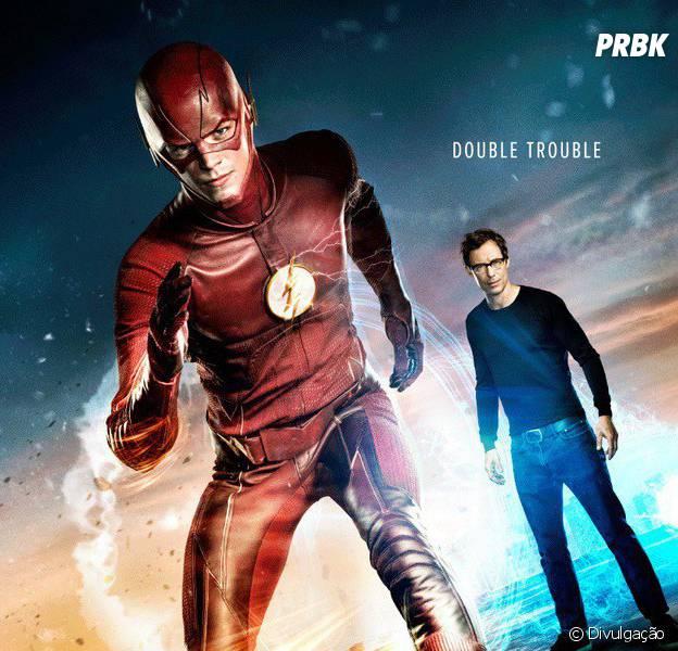 """Em """"The Flash"""": na 2ª temporada, Barry (Grant Gustin) aparece com um problema duplo em novo pôster!"""
