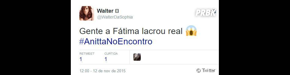 Quem aí ainda tá com o queixo no chão depois de ver a Anitta e a Fátima Bernardes dançando juntas?