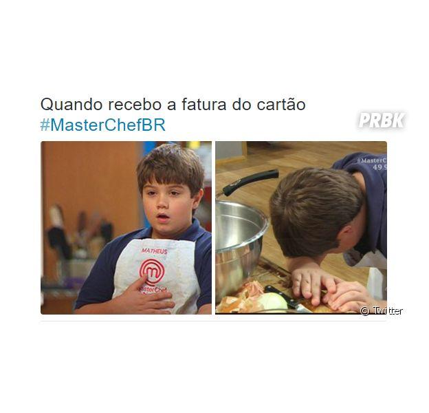 """No """"MasterChef Júnior"""": Matheus ficou triste, mas acabou divertindo o público com suas caras e bocas!"""