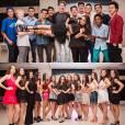 Larissa Manoela posa com os amigos que irão dançar em sua festa de 15 anos