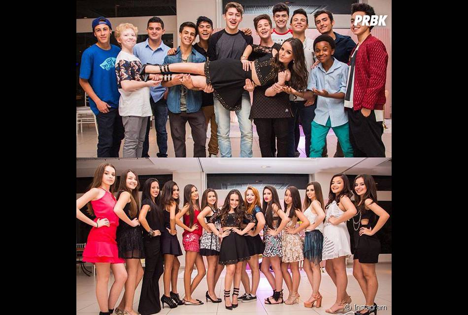 d1bde304b1d81 Larissa Manoela posa com os amigos que irão dançar em sua festa de 15 anos