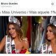 Até com Wesley Safadão os internautas fizeram piada durante o Miss Universo 2015