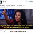 A sábia Inês Brasil resume o Miss Universo 2015