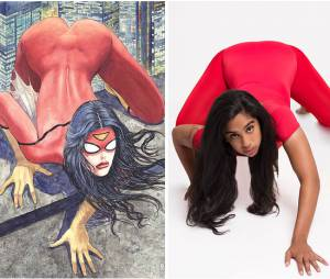 Mulheres são fotografadas nas poses da super-heroínas dos quadrinhos