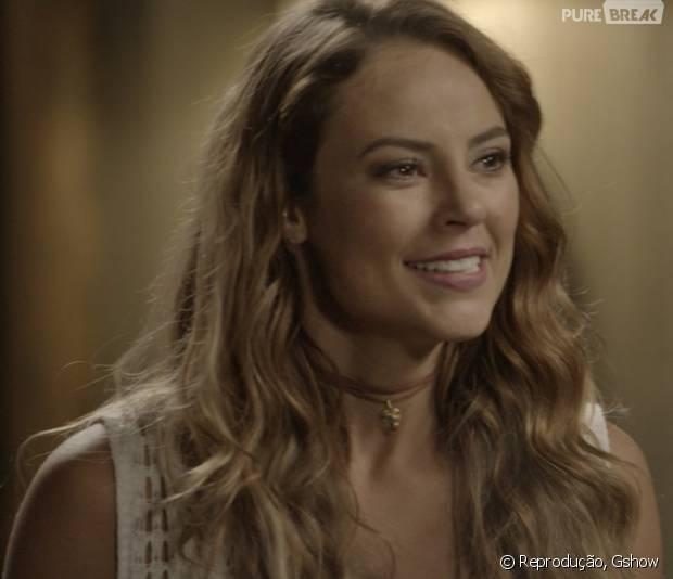"""Em """"Além do Tempo"""":Melissa (Paolla Oliveira) interrompe jantar em família com polêmica"""
