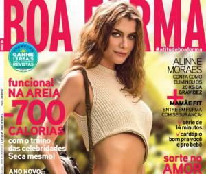 """Destaque em """"Além do Tempo"""", Alinne Moraes estrela a edição de janeiro da revista Boa Forma"""