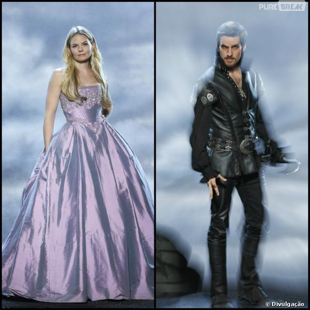 """Em """"Once Upon a Time"""", Emma (Jennifer Morrison) e Hook (Colin O'Donoghue) estão ameaçados de morte"""