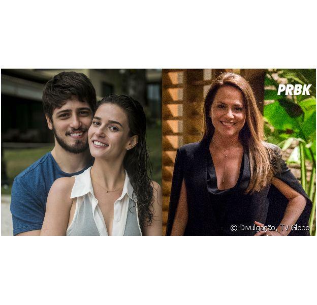 """Em """"Totalmente Demais"""", mesmo triste por morte de Sofia (Priscila Steinman), Rafael (Daniel Rocha) beija Lili (Vivianne Pasmanter), mas de sua falecida noiva"""