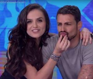 """Monica Iozzi e Cauã Reymond ficam juntos no """"Vídeo Show"""" e apresentadora brinca com ator!"""