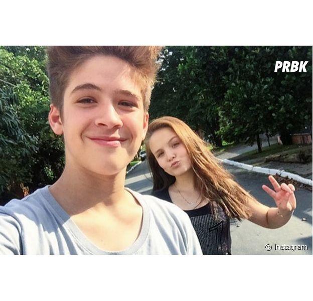 Os namorados Larissa Manoela e João Guilherme Ávila no Instagram