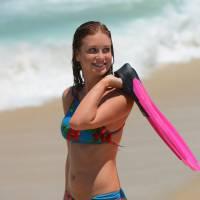 """Novela """"Totalmente Demais"""": Eliza (Marina Ruy Barbosa) manda bem em etapa após quase se afogar"""